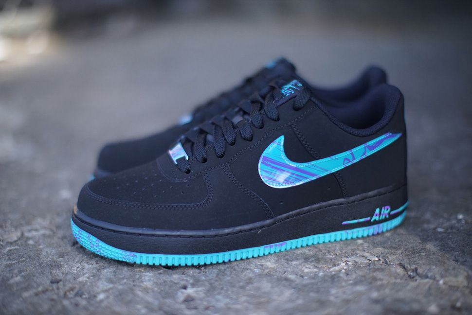 huge discount f9d76 722de Nike Air Force 1 Low  Black, Turbo Green Purple Venom