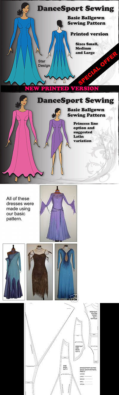 Sewing Patterns 28174: Ballgown Sewing Pattern For A Basic Dance ...