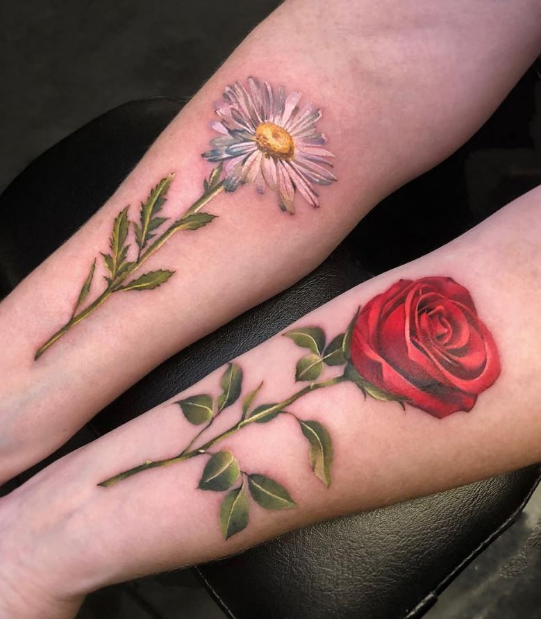 50 best pastel color flower tattoos for girls tattoos