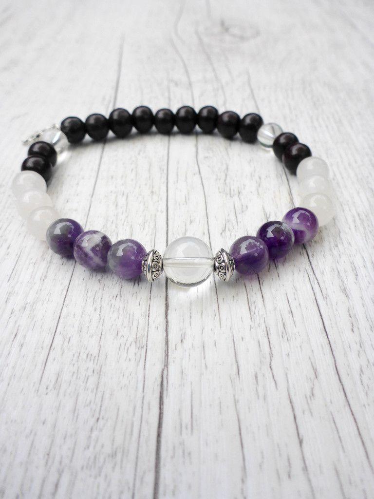 Pin It! The Amethyst Dream Mala Bracelet - Mala Kamala Mala Beads - Boho Malas, Mala Beads, Yoga Jewelry, Meditation Jewelry, Mala Necklaces and Bracelets, Childrens Malas, Bohemian Jewelry and Baby Necklaces