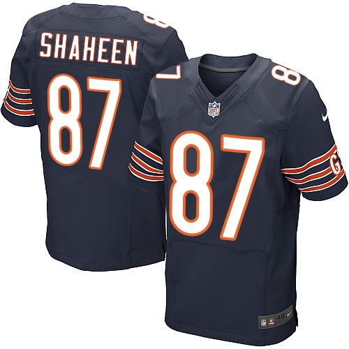 Nike Bears  87 Adam Shaheen Navy Blue Team Color Men s Stitched NFL Elite  Jersey And  nfl jersey number 17 3d36257cf