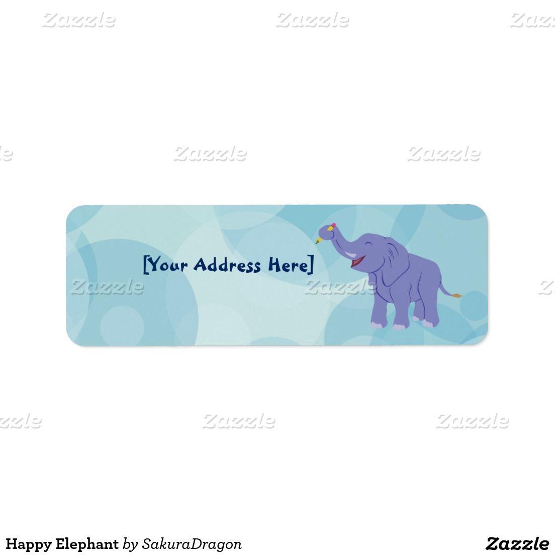 Happy Elephant Label