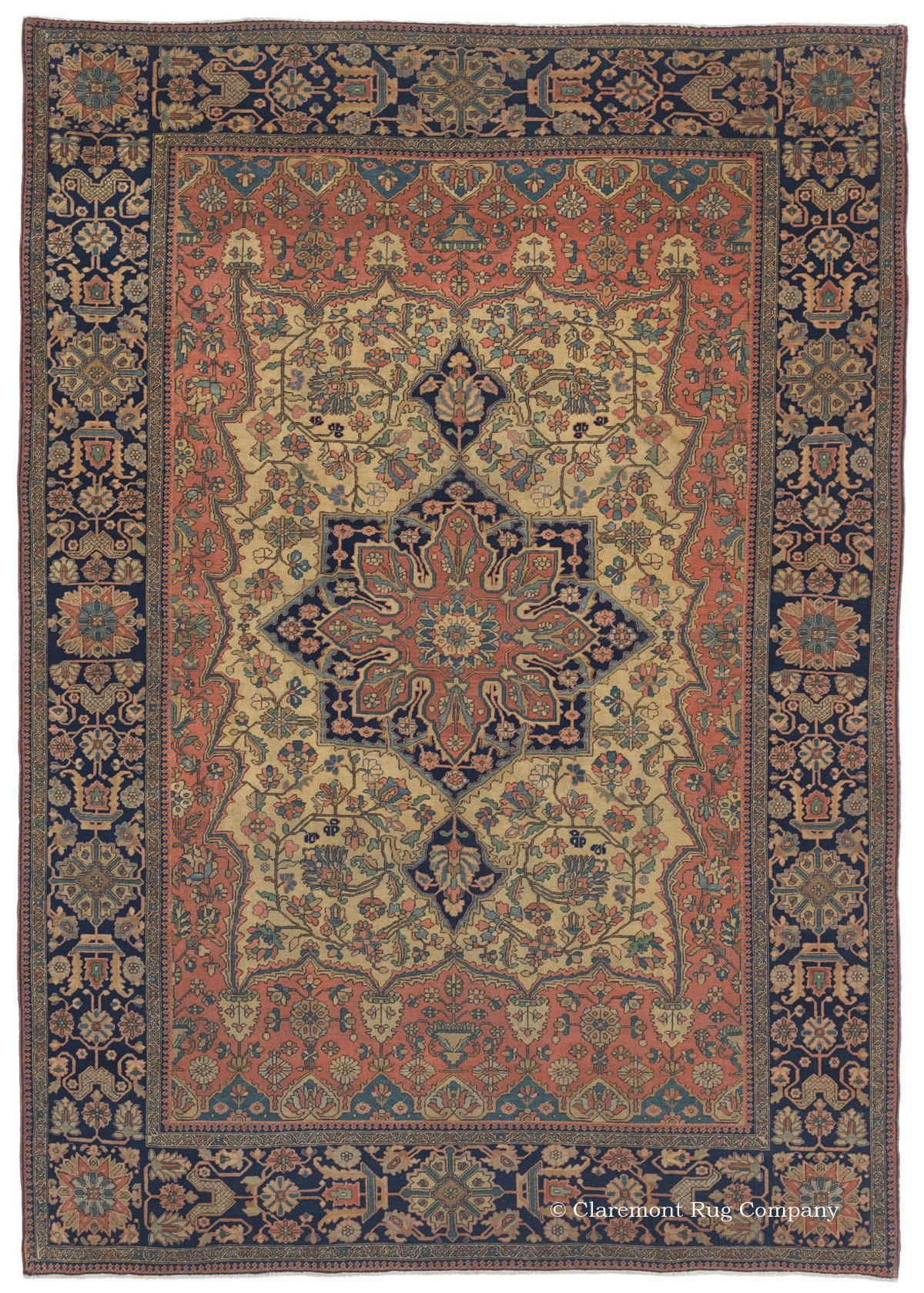 Tappeto Vintage Persiano Motasham Kashan Central Persian 4ft 8in X 6ft 8in Circa