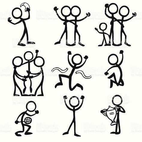 Stick Figure People Celebration Vector Id165739351 1023 1024 Stick Figure Drawing Stick Figures Stick Drawings