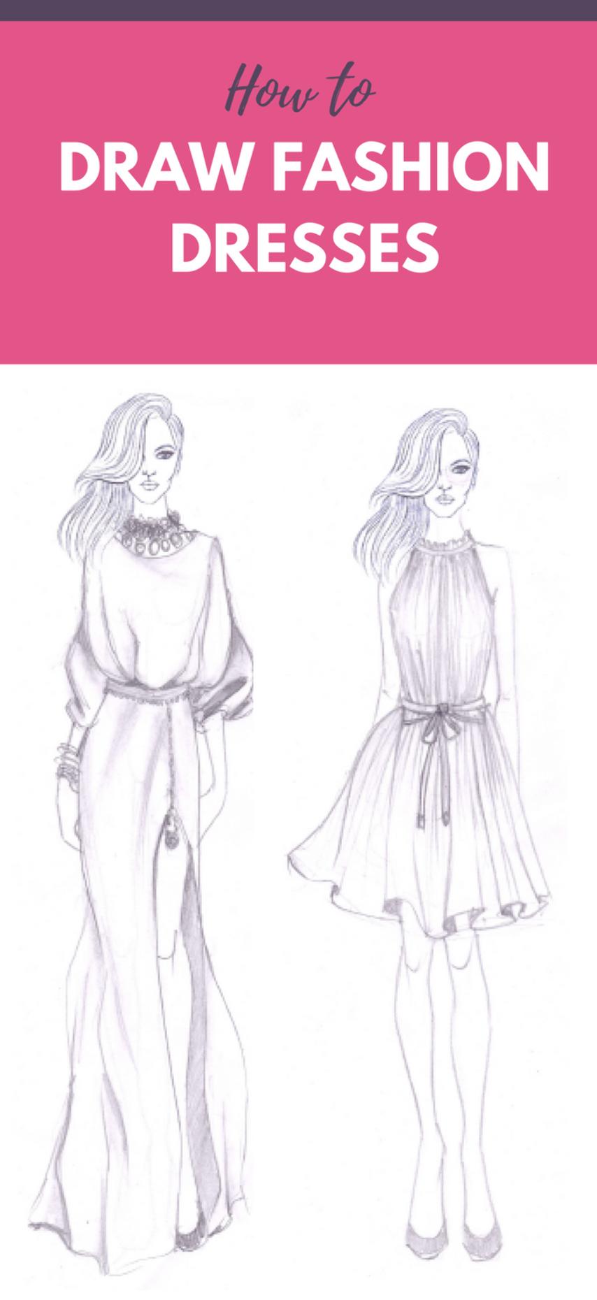 Wanna Make Fashion Design Sketches Wonder How Fashion Designer Sketches Are Made Fashion Drawing Tutorial Fashion Drawing Sketches Fashion Design Sketchbook