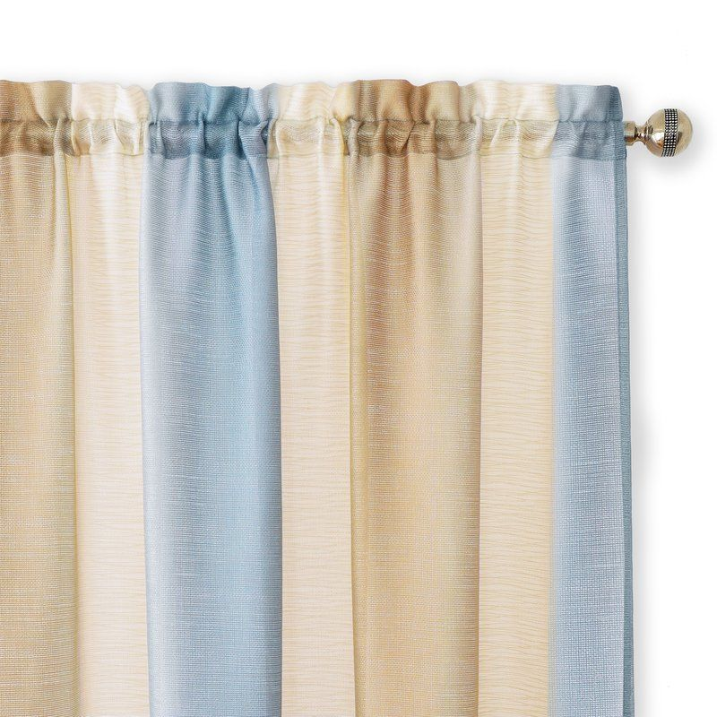 Orion Solid Semi Sheer Rod Pocket Single Curtain Panel Panel