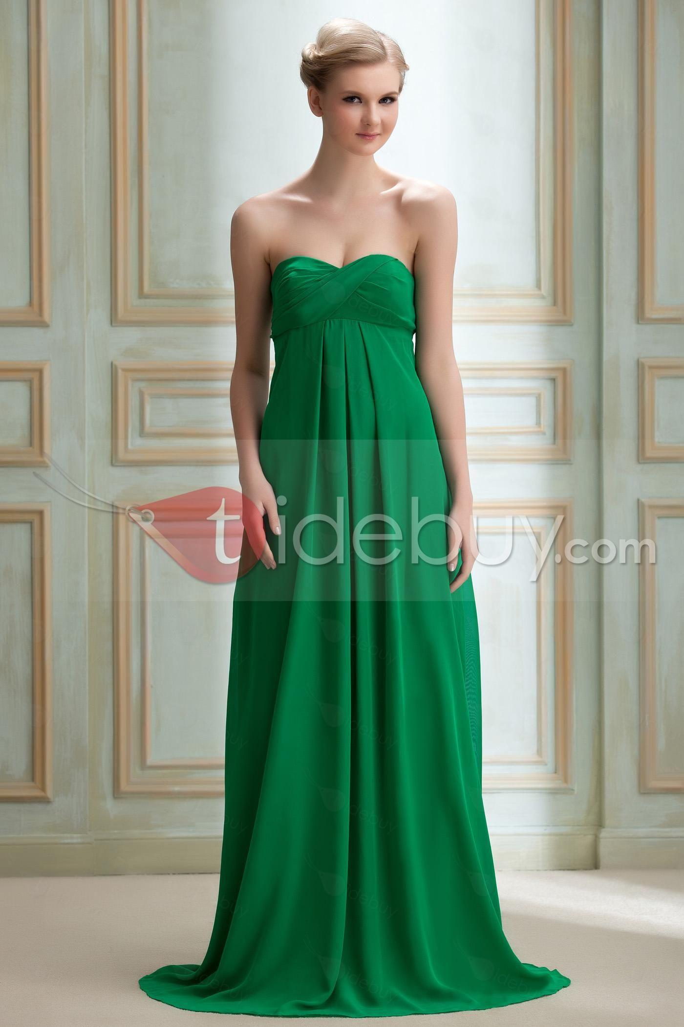 Best selling aline strapless empire waistline yanaus long
