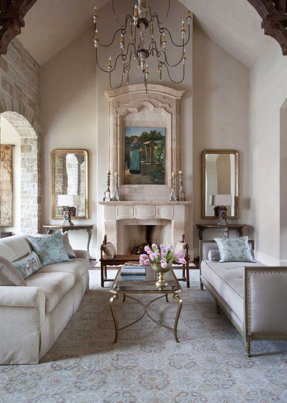 Country French Kitchens | French living rooms, French ...