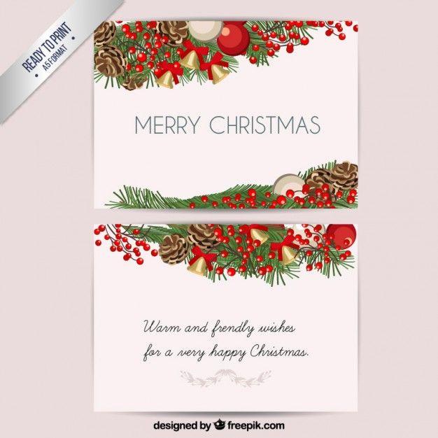 Рождественская открытка Бесплатные векторы | ILLUSTRATIONS ...