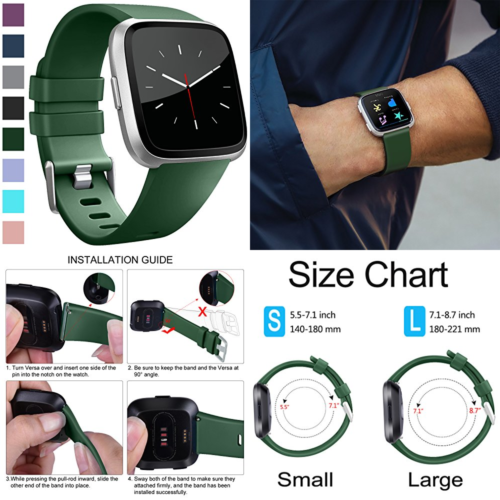 Dark Green Sport Small Replacement Bands Strap Bracelet Band For