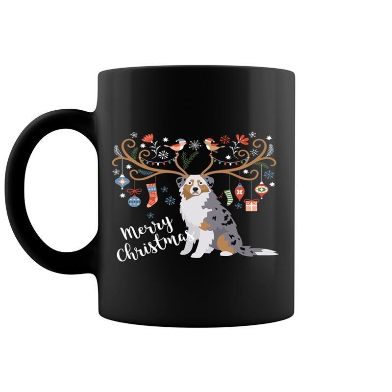 Australian Shepherd Dog Christmas Coffee Mug 11 & 15 Oz ...
