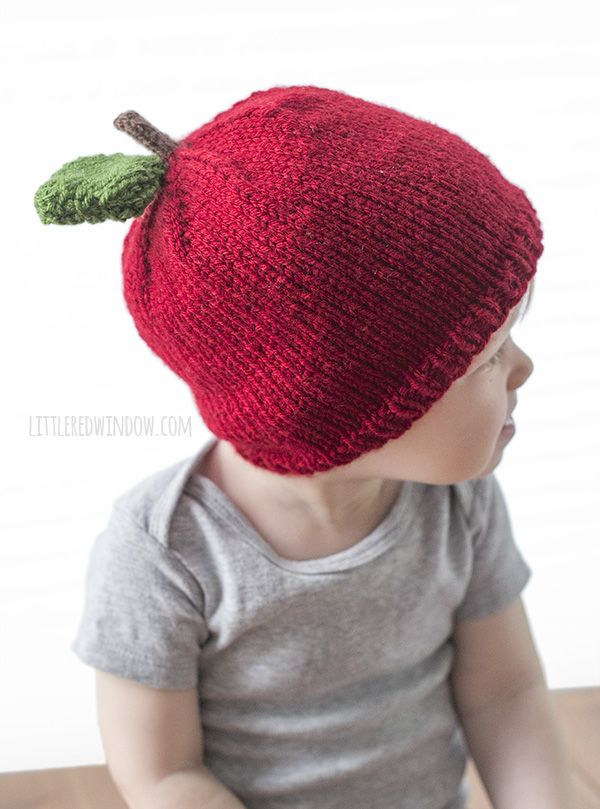Apple Hat Knitting Pattern | Knitted hats, Baby hat ...