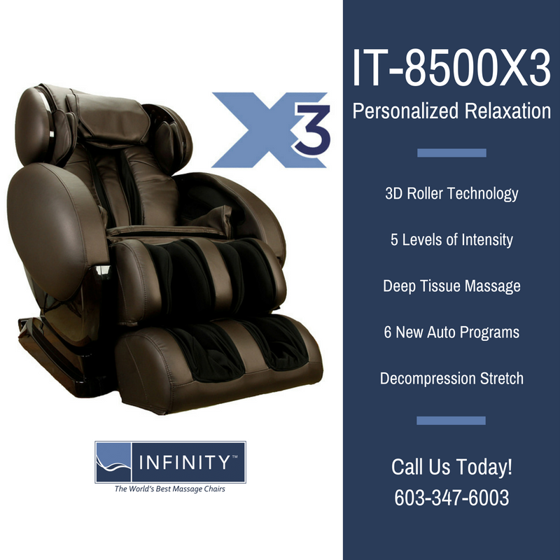 Didn't think the IT-8500 could get any better? Check out the IT-8500X3, with its #3D #massage technology and more.