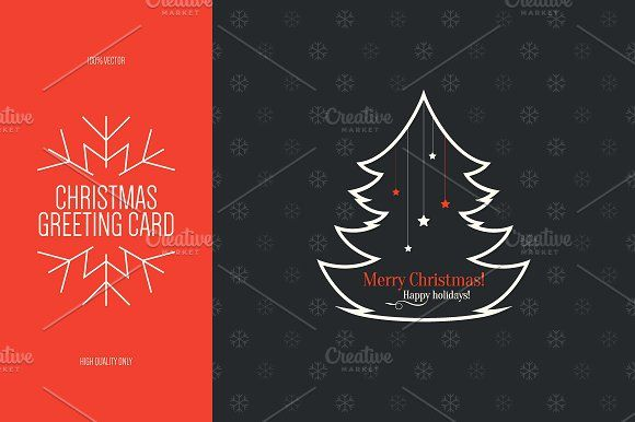 Christmas and new year greeting card card templates fonts and logos christmas and new year greeting card creativework247 m4hsunfo