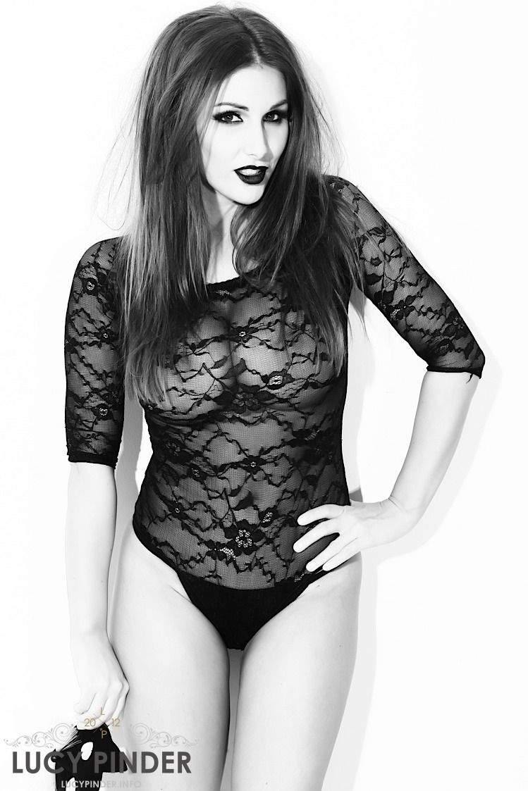 Lucy pinder black and white