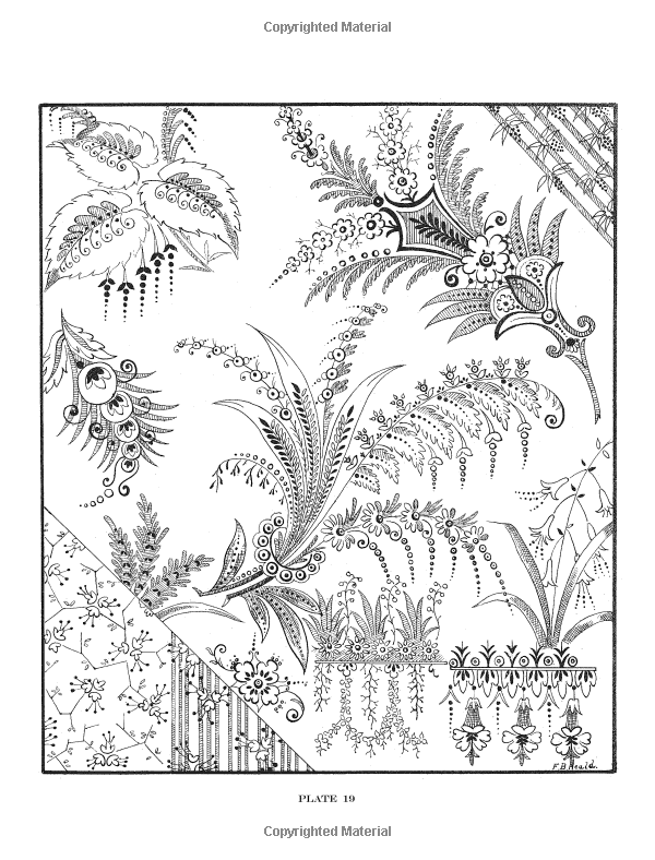 Dover Publications / 600 Decorative Floral Designs / F. B