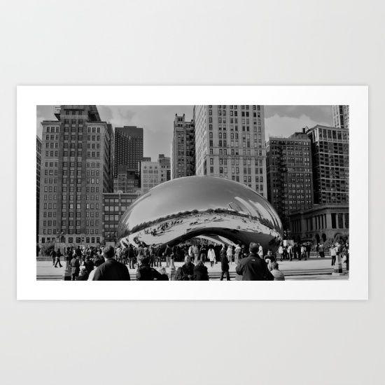 The Bean / Chicago / Illinois / Downtown / September 2009. Art print on sale @ society6.com