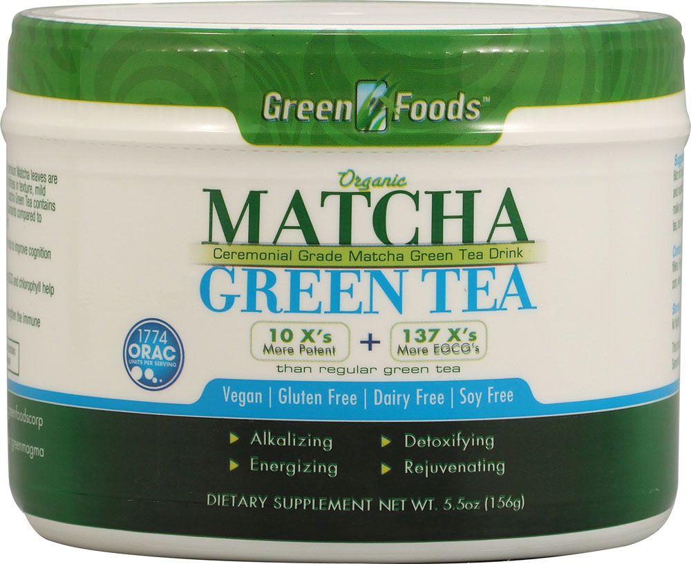 Green foods matcha green tea energy blend 55 oz