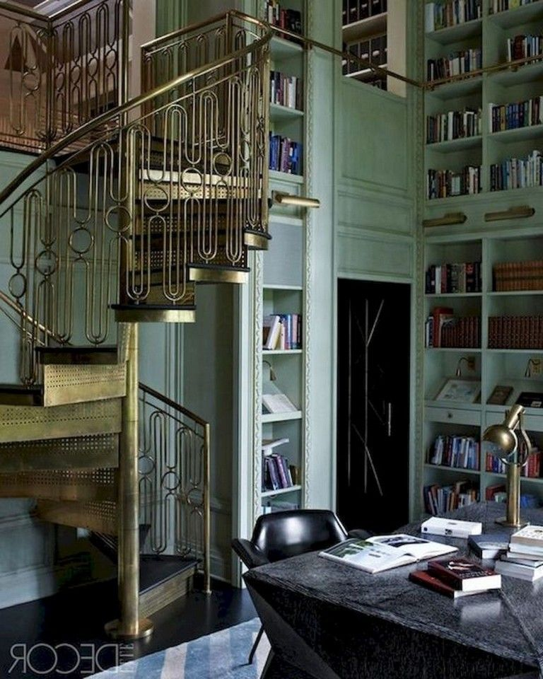 53 Lovely Home Library Design Ideas Page 9 Of 55 Home Library