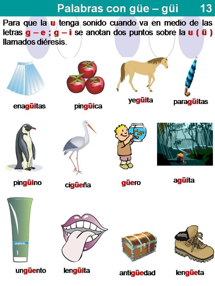 Ejemplos De Palabras Con Dieresis Gue Y Gui Compartir Ejemplos