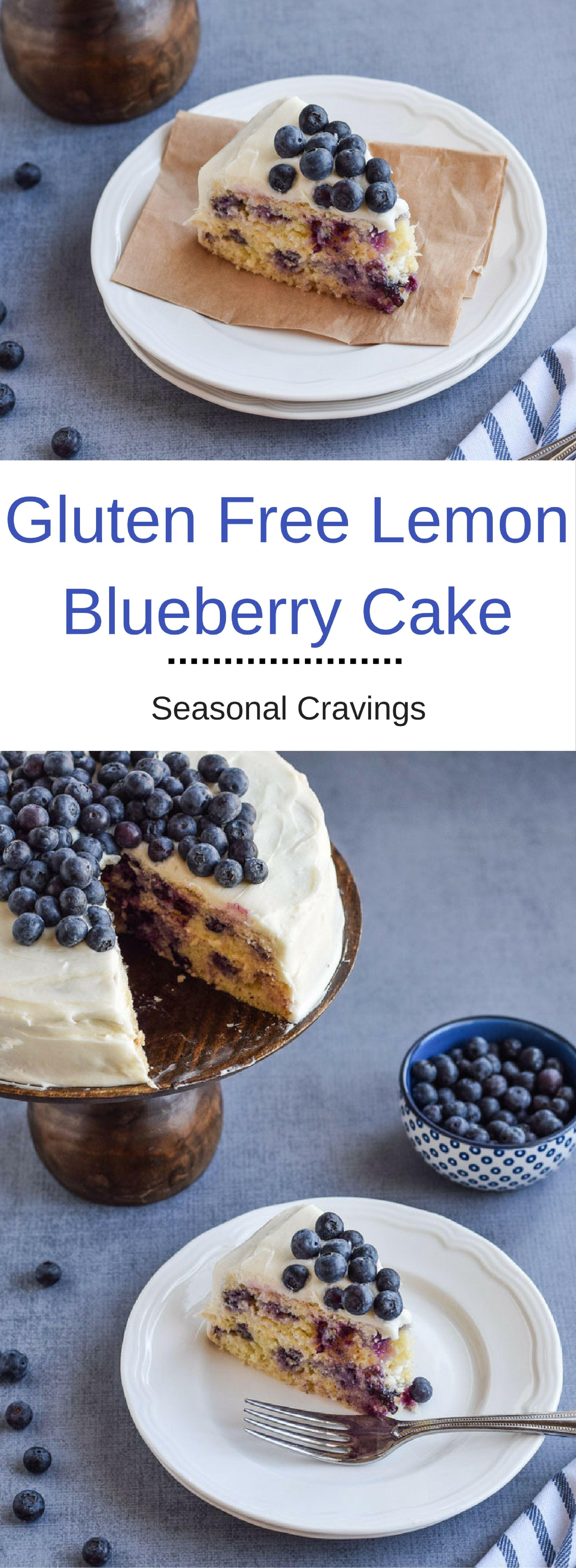 Gluten free lemon blueberry cake recipe spring baking