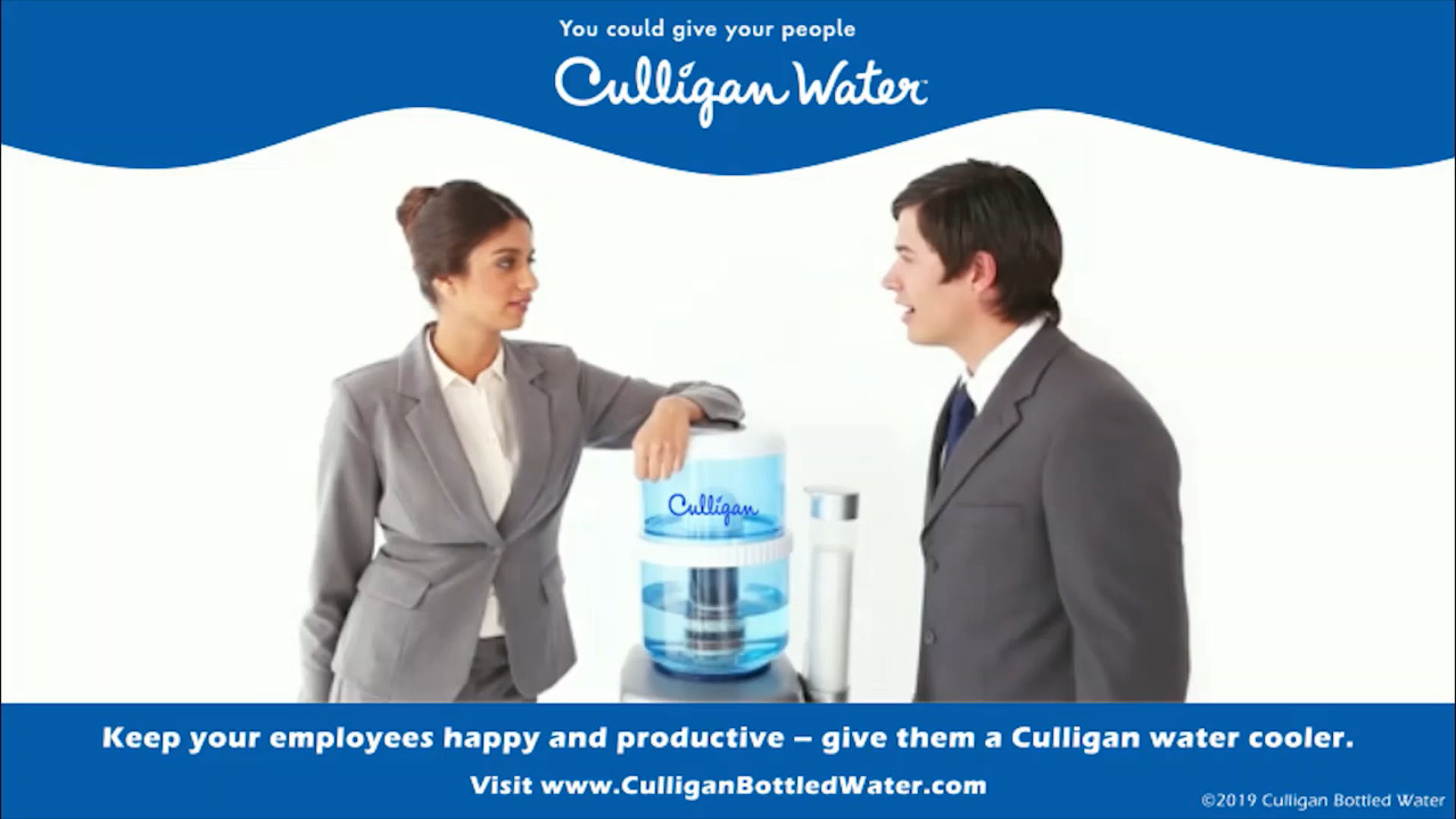 Keep Your Employees Happy And Productive Give Them A Culligan Water Cooler To Learn More About Culligan Water C Video Water Coolers Office Water Cooler Culligan