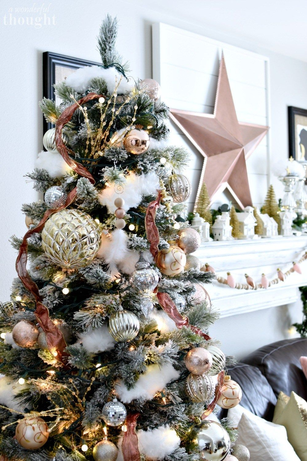 Blush And Rose Gold Christmas Tree Rose Gold Christmas Tree