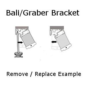 Hidden Graber Bali Crystal Pleat Mounting Bracket Remove