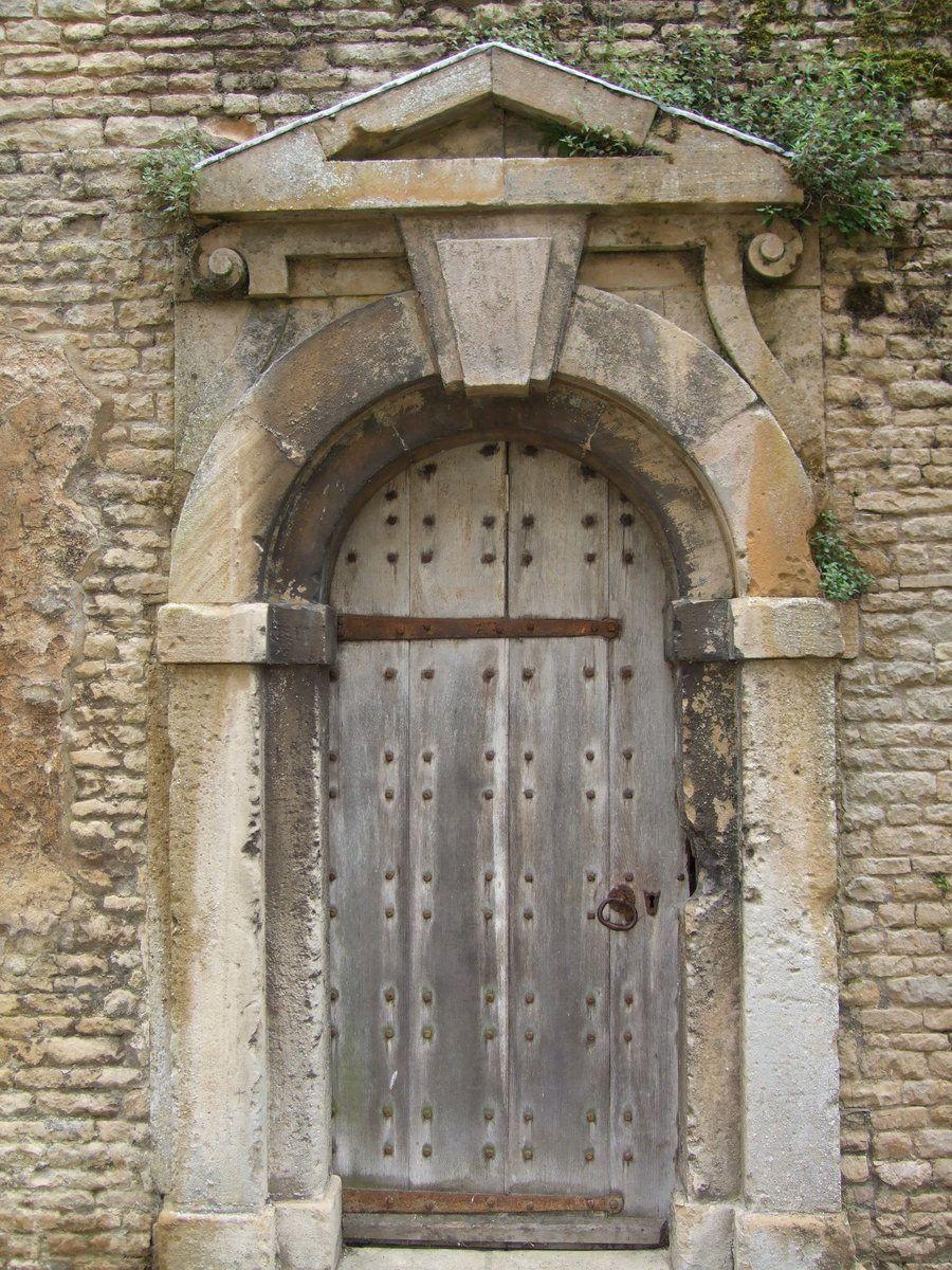 Photo of Old Wooden Door. Stone Frame. by SkullsCrystal on DeviantArt