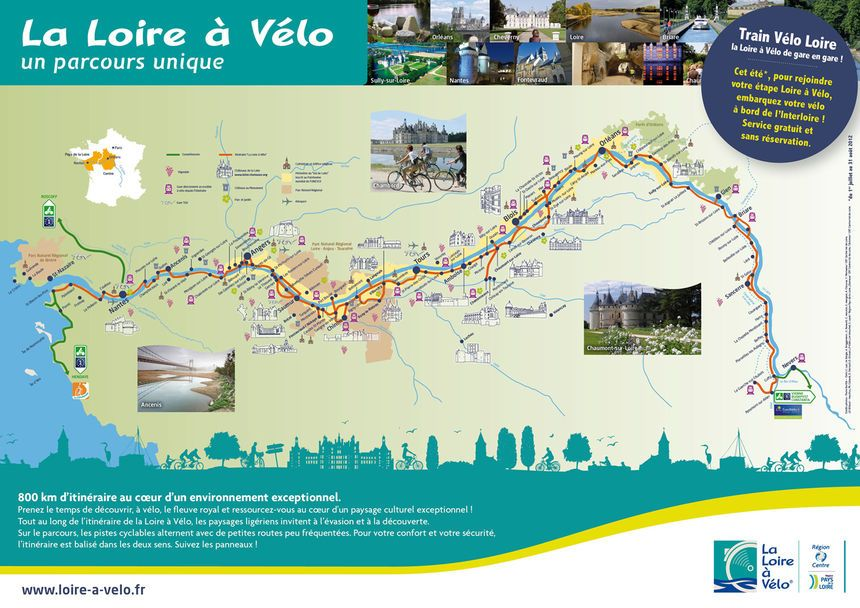loire à vélo carte Bientôt un itinéraire complet la