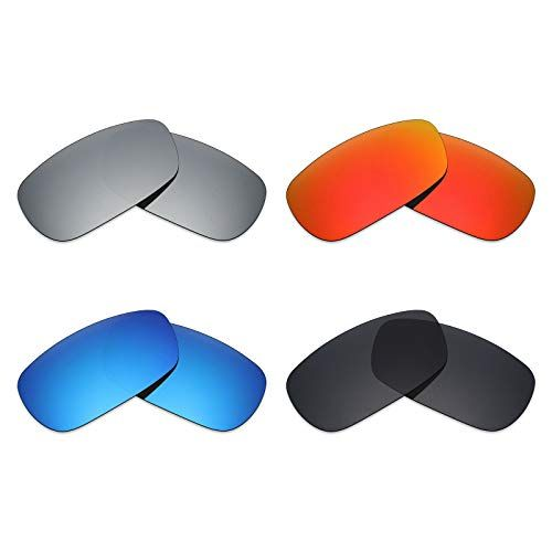 d198b1debfb Mryok 4 Pair Polarized Replacement Lenses for Oakley Crosshair 2.0 Sunglass  - Stealth Black Fire
