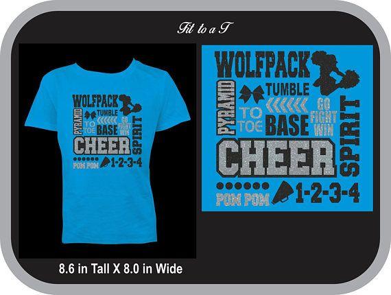 2e65a7ef759e Glitter Cheer T-Shirt with Mascot Name