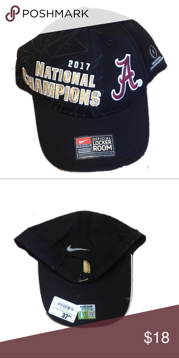 Alabama Crimson Tide Nike Champs Adjustable Hat Brand new with tags  officially licensed Alabama Crimson Tide Nike 2017 Football national  champions Hat Cap. a3a3d16e7f6