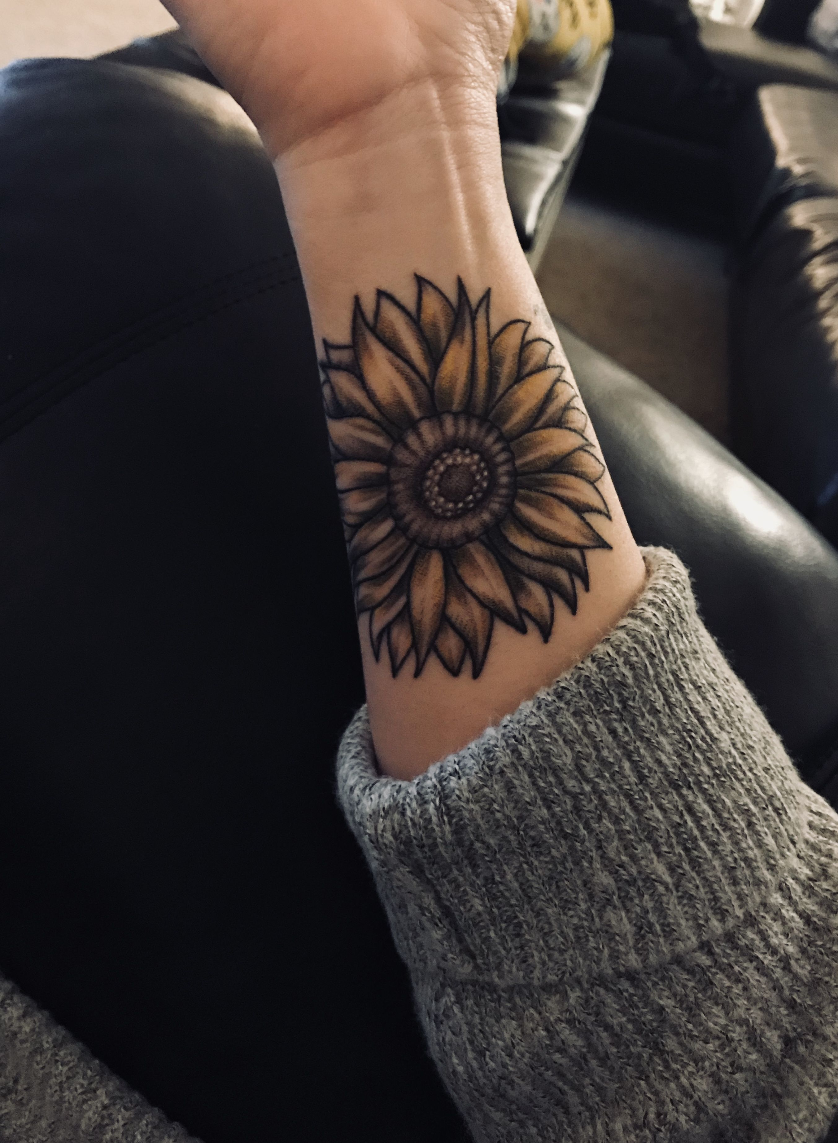 Sunflower Tattoo Aztec Tattoo Designs Sunflower Tattoos