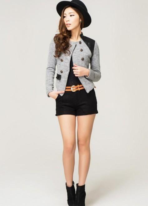 Cheap 2015 nueva moda caliente Cozy chal ropa las mujeres escudo chaqueta  delgada salvaje traje de bfb32ecd351c