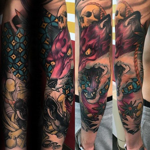Top 87 Kitsune Tattoo Ideas 2020 Inspiration Guide Tattoo Sleeve Designs Sleeve Tattoos Leg Sleeve Tattoo