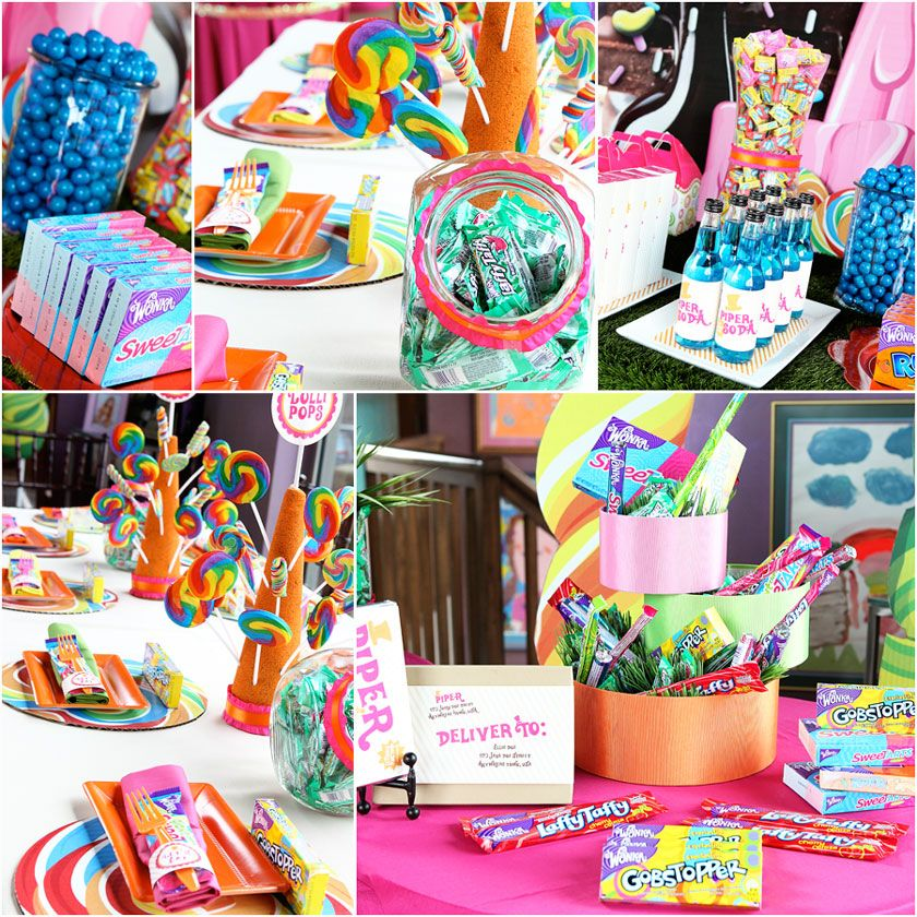 Willy wonka candyland party ideas from for tea party and spring break at - Candyland party table decorations ...