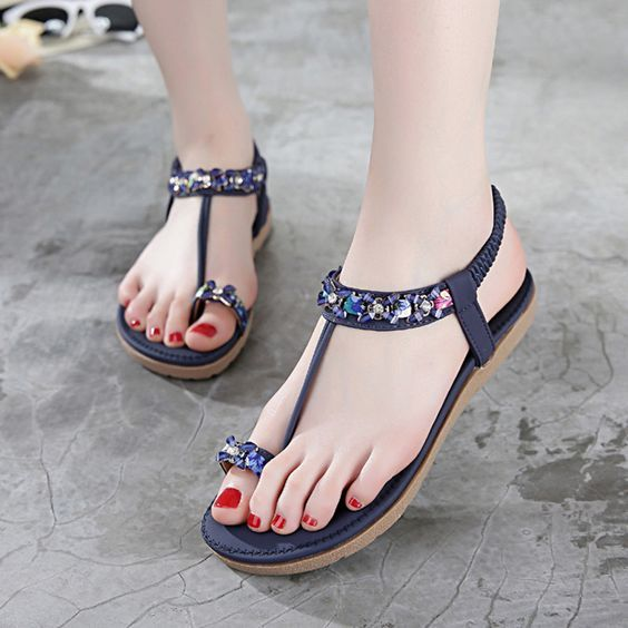 Stylish sandals, Leather shoes woman
