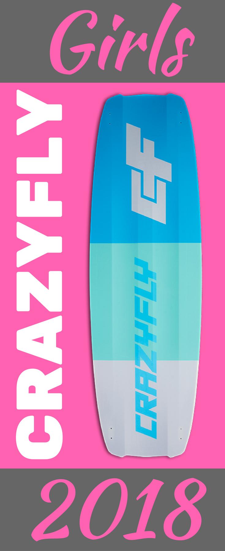 Das Crazyfly Girls 2018 ist ein Freeride Kiteboard für Frauen und Mädels, die nicht nur auf Performance sondern auch auf ein extraordinary Design stehen. #Kiteboard #girlsdesign #crazyfly https://www.kiteladen.at/Girls-2018