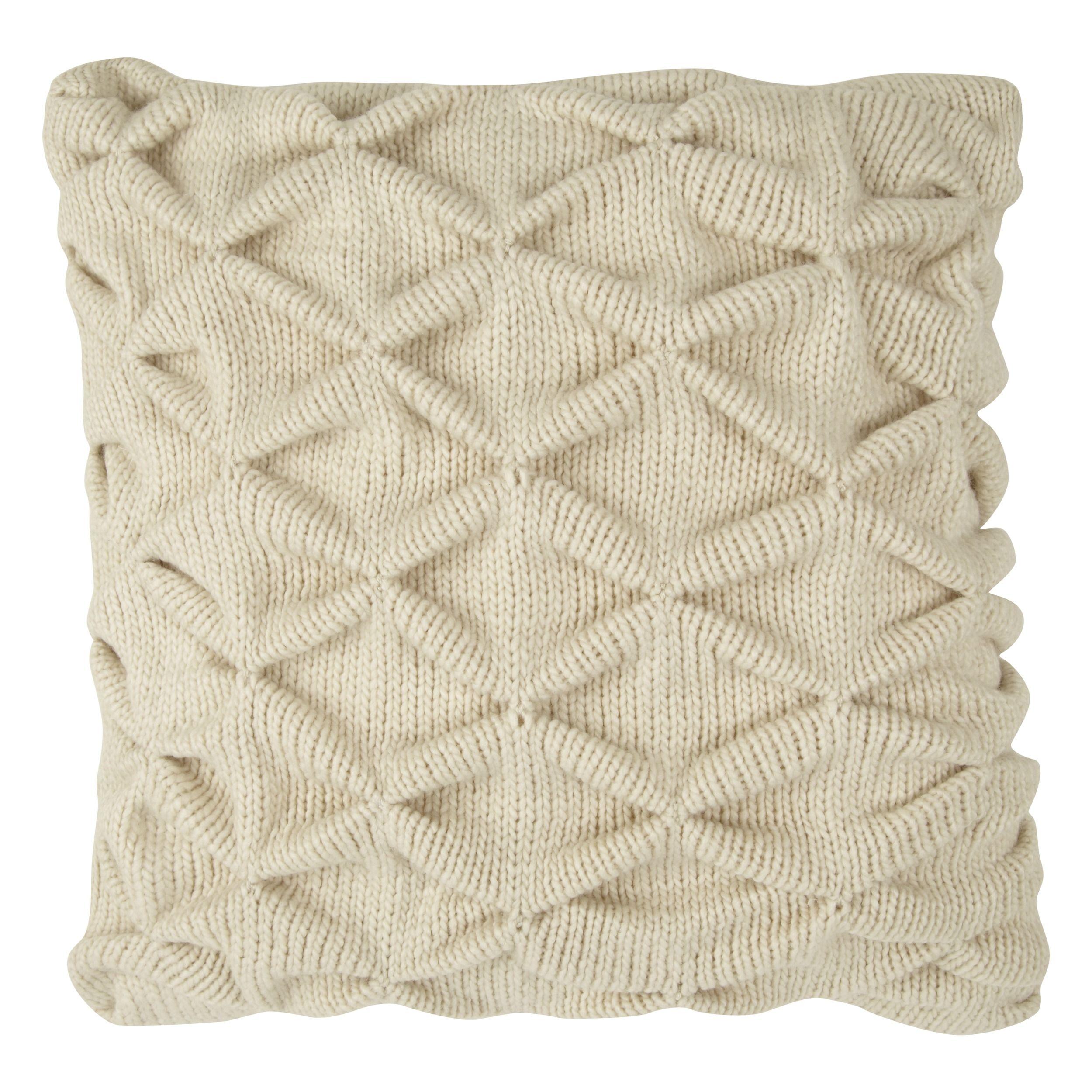 Trellis Natural Knit Cushion | Craft ideas | Pinterest | Room