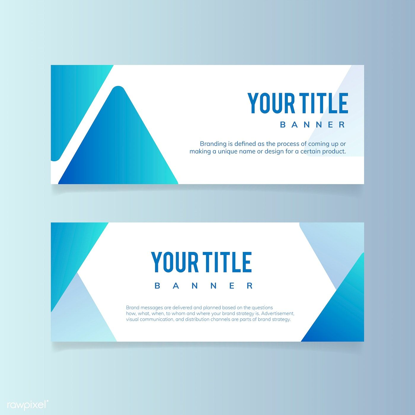 Blank Banner Template Free