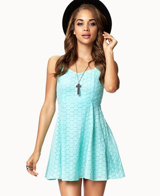 ae62803b539 ADORABLE. mint eyelet dress! a MUST for the summer! Get 4% cash
