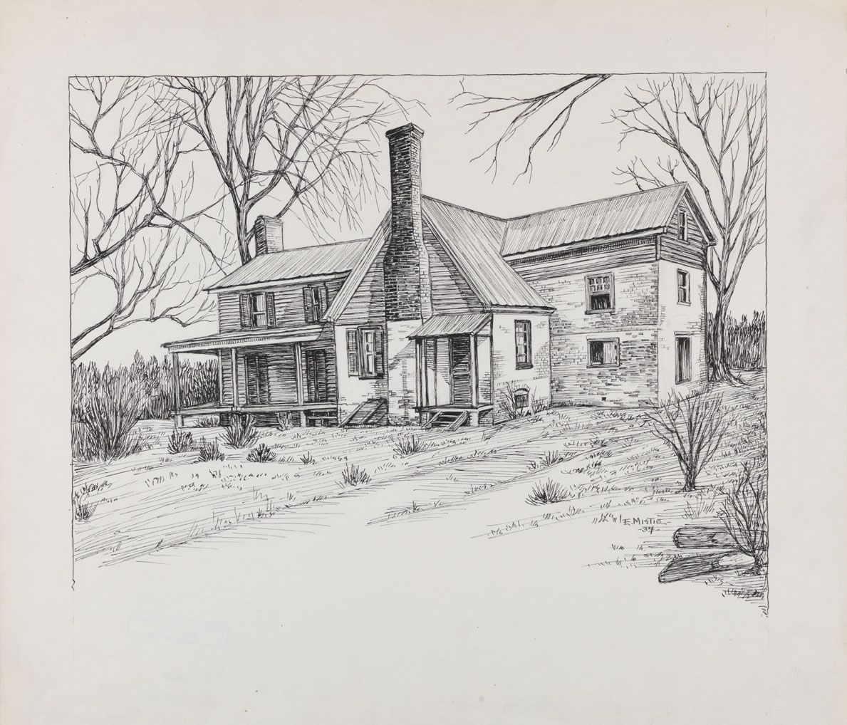 Pencil Drawings Of Old Houses