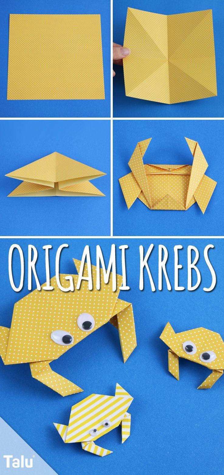 origami krebs falten anleitung mit bildern diy ideen. Black Bedroom Furniture Sets. Home Design Ideas