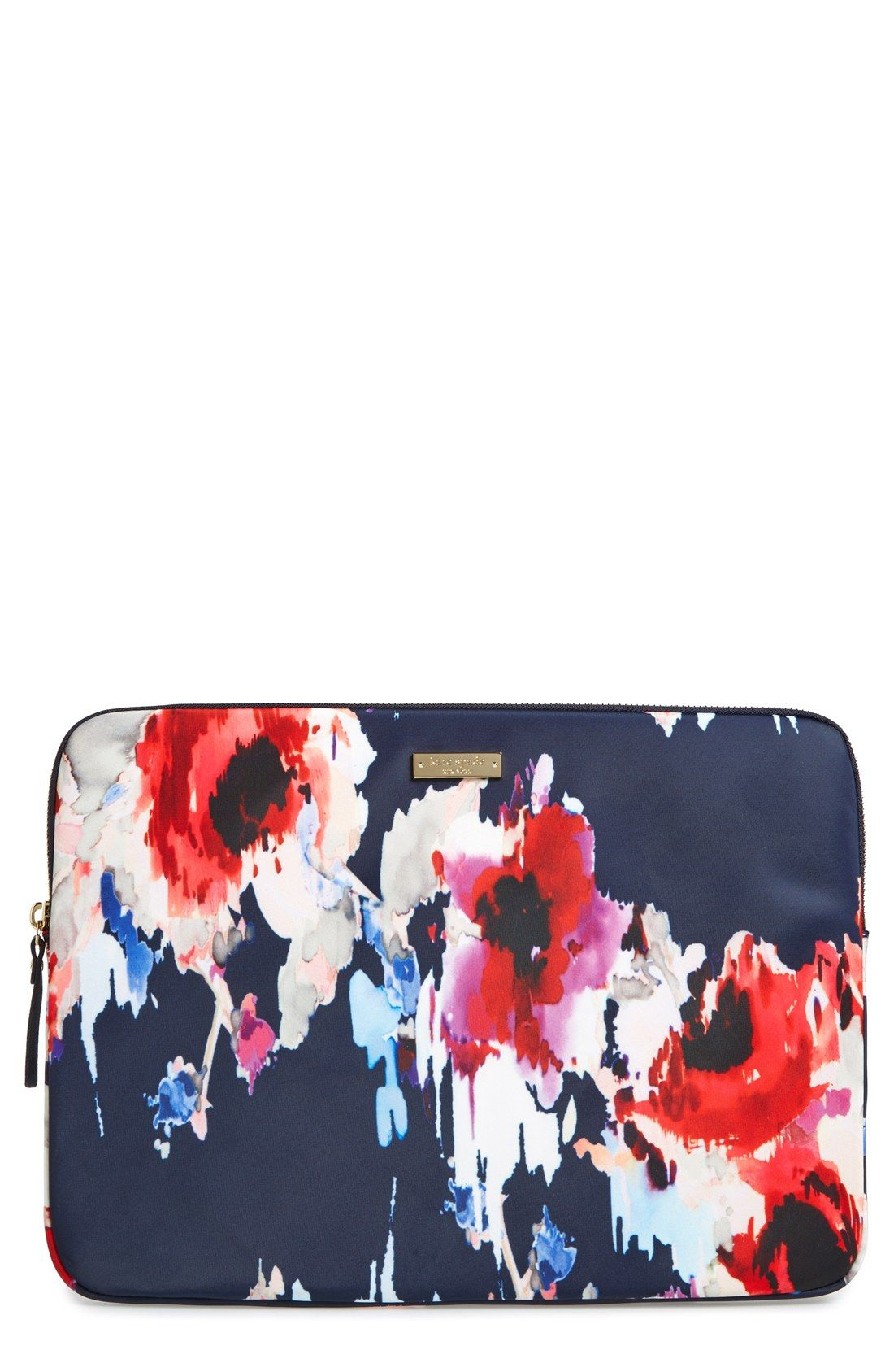on sale fbe05 6287c kate spade new york 'hazy floral' laptop sleeve (13 inch ...