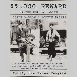 Bonnie And Clyde Wanted Poster Shirts Feature A Design Taken From A Real  Bonnie And Clyde