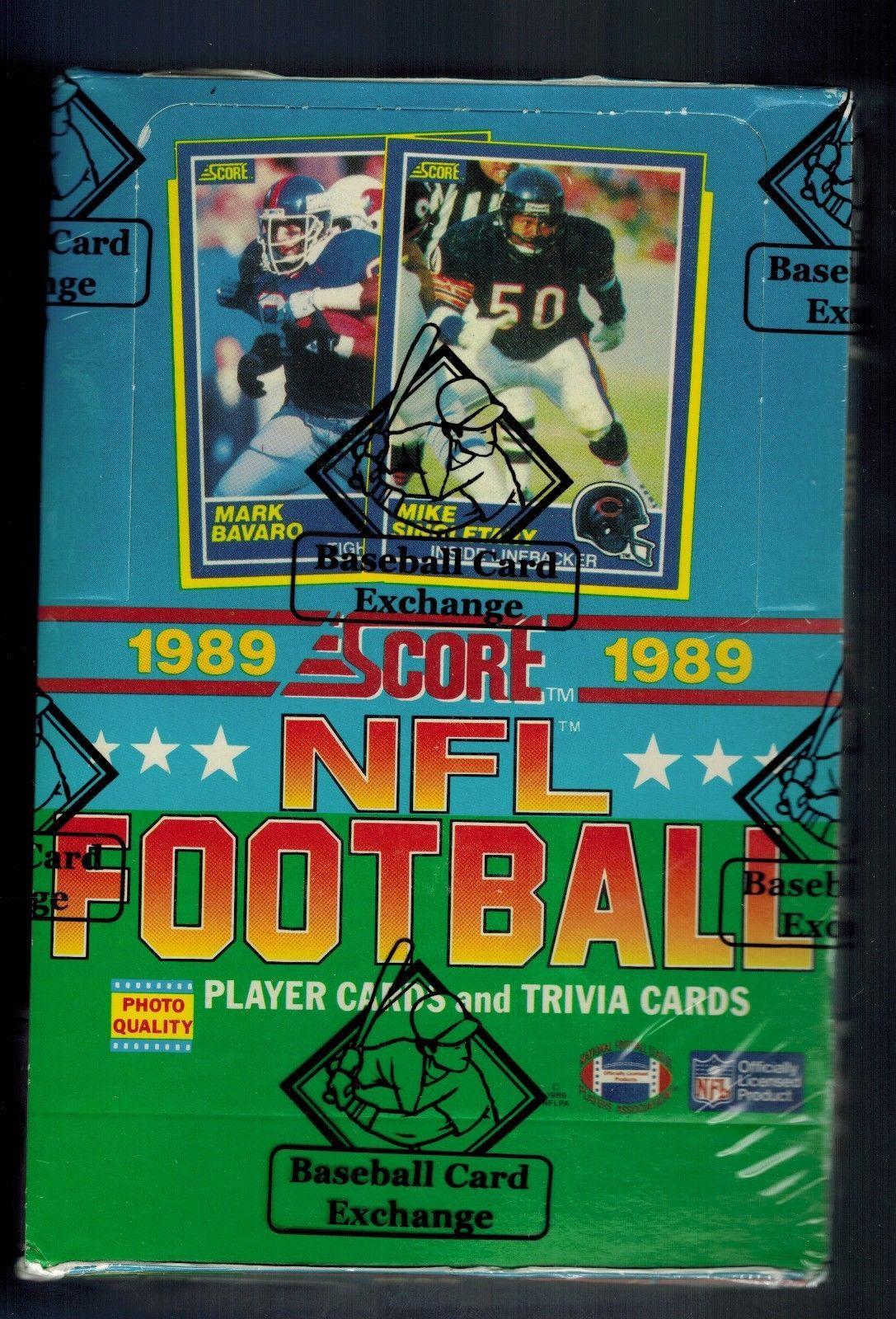 1989 score football wax box 36 packs bbce wrapped barry
