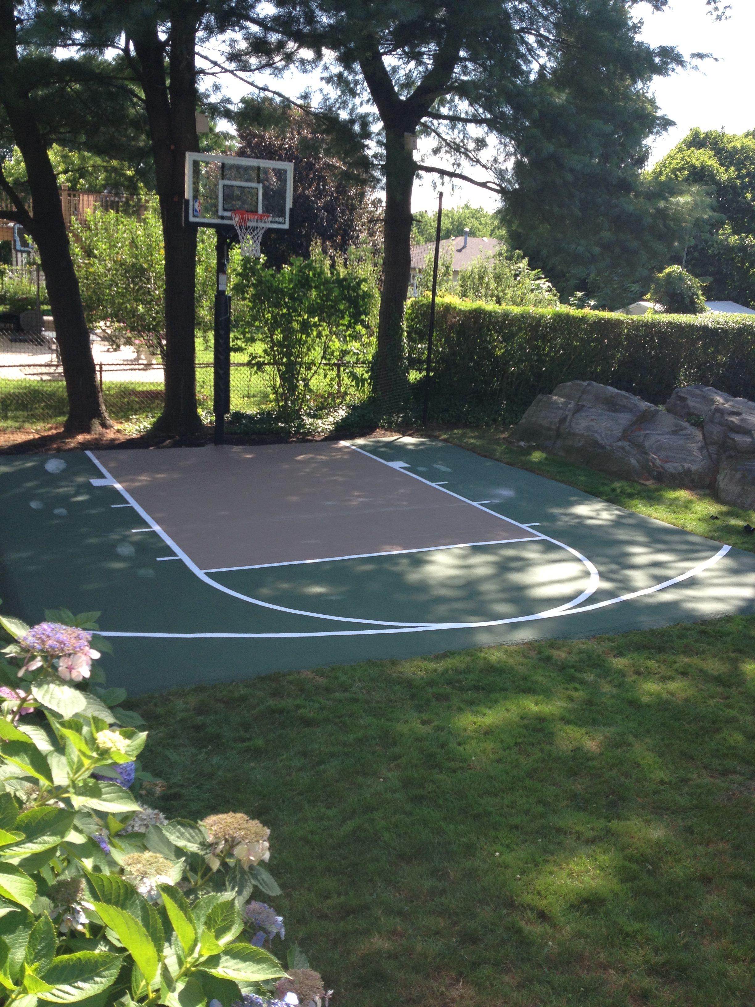 Stones At Courtside Backyard Basketball Small Backyard Landscaping Backyard landscaping ideas with basketball court