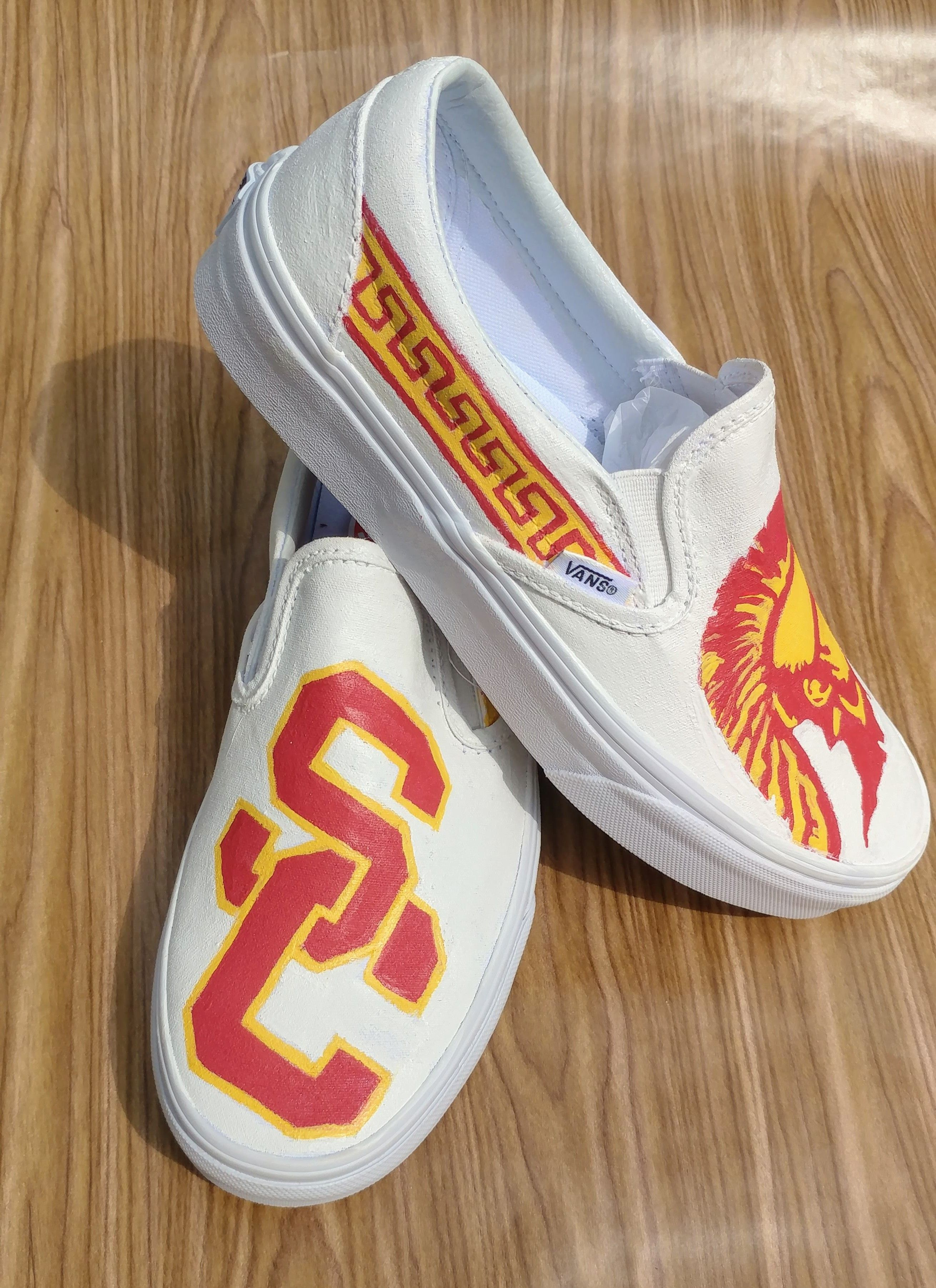 Painted to order USC Trojans University Vans California