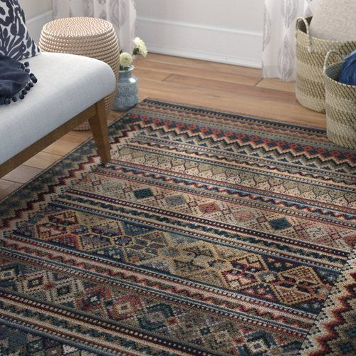 World Menagerie Lettie Woven Brown Green Rug Products In